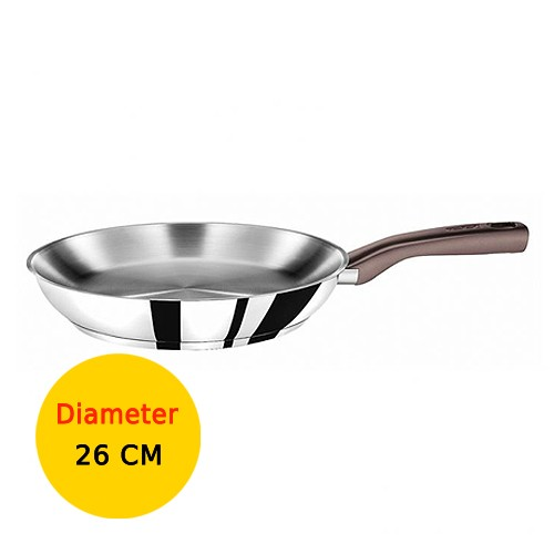 Tefal Wajan Penggorengan Tasty Stainless Steel - 26 cm
