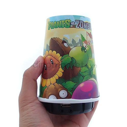 Plants vs Zombies Speaker Cup Portabel + Power Bank 1200mAh