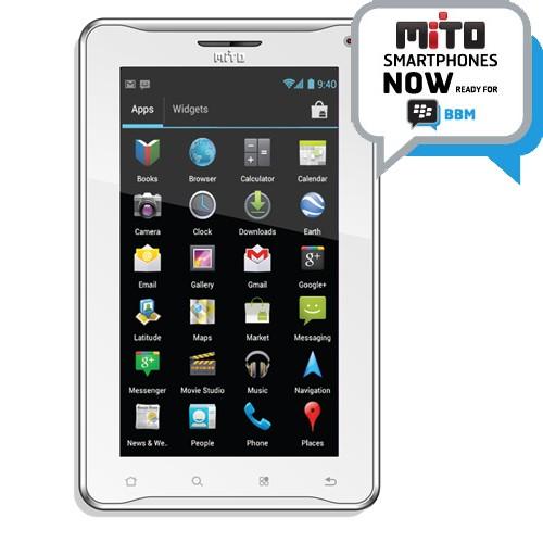 Mito T720 - White   1 GHz Dual Core, Android 4.0 Ice Cream Sandwich, 7