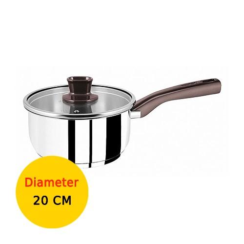 Tefal Panci Tasty Stainless Steel Saucepan With Lid - 20 cm