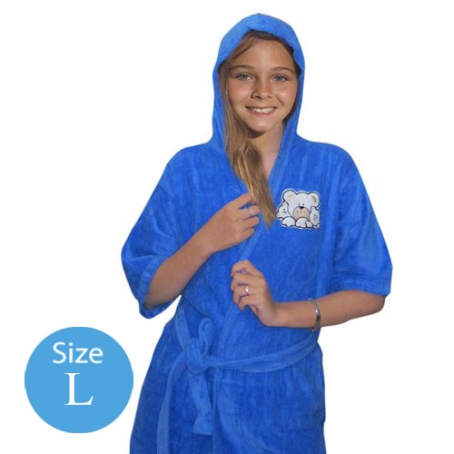 Handuk Baju Anak Blue L