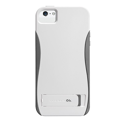 Case-Mate Case Pop With Stand for iPhone 5/5S - White/Titanium Grey