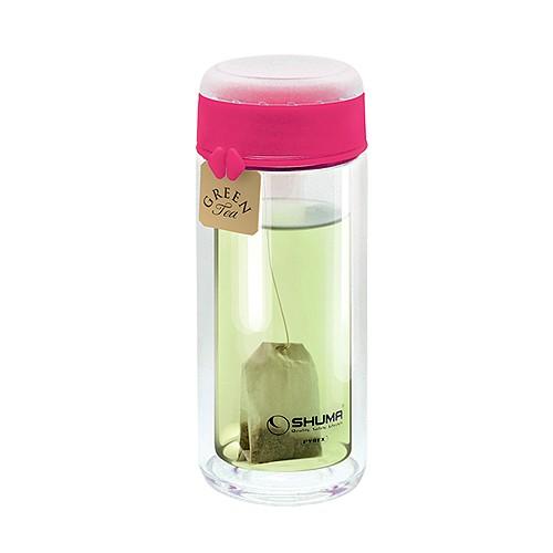 Shuma Botol Tumbler DW Thermal Insulation Pyrex Glass 340ML - Pink