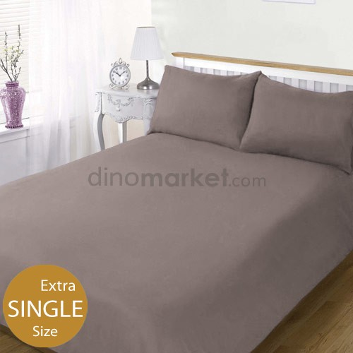 DinoChoice Bed Sheet Plain (Extra Single Size) - Grey
