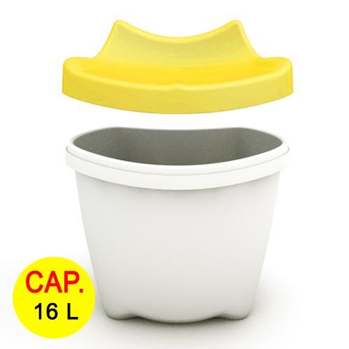 Kursi + Tempat Penyimpanan Multifungsi Livinbox Kero - Kero 16 L - Yellow