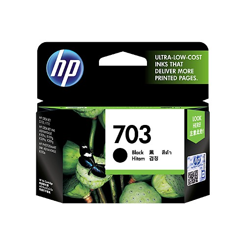 HP Tinta Printer Deskjet 703 Value XL CD887AA - Black