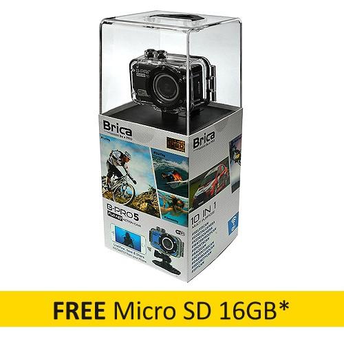 Brica B-Pro5 WiFi Action Cam - Black + Micro SD 16GB