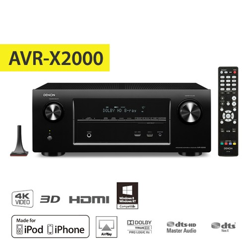 Denon AV Receiver AVR-X2000BKE1 - Black