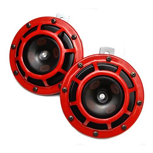 Hella Klakson Super Tone Horn Set - Red