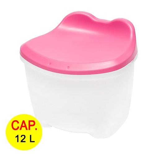 Kursi   Tempat Penyimpanan Multifungsi Livinbox Kero - Kero 12 L - Pink