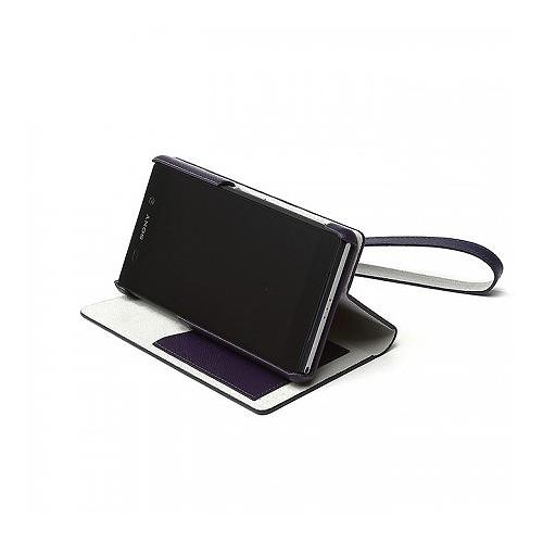 Zenus Metallic Diary Case for Sony Xperia Z2 - Purple