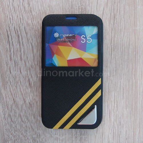 Strip Flip Case for Samsung Galaxy S5 - Black