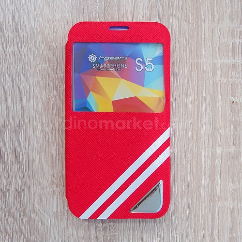 Strip Flip Case for Samsung Galaxy S5 - Red