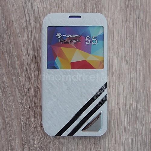 Strip Flip Case for Samsung Galaxy S5 - White