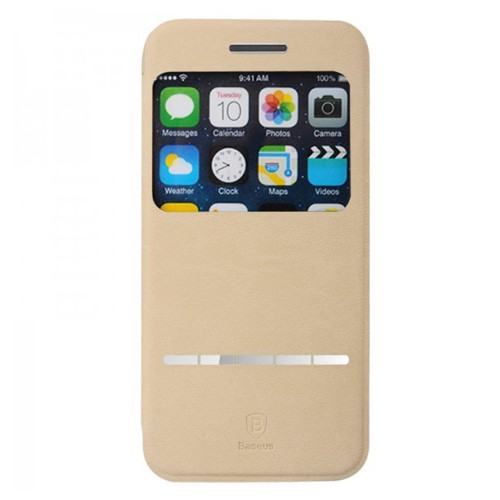 Baseus Terse Leather Case for iPhone 6 4.7 Inch - Khaki
