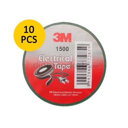 3M Electrical Tape 1500 GU Vinyl - Green (10 pcs)
