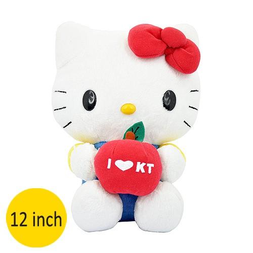 Boneka Hello Kitty Basic symbol Apple 12 inch PTV-0152B - Blue