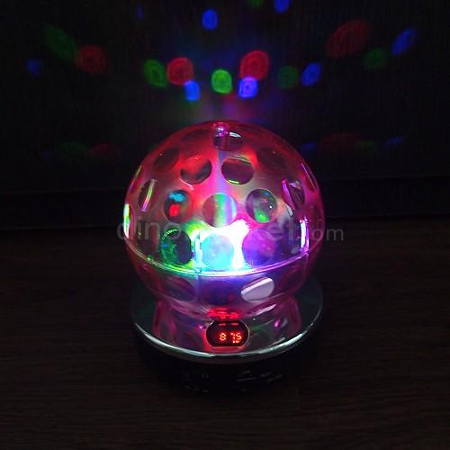 Speaker Lampu Disco Mp3 Player & Radio - Pink