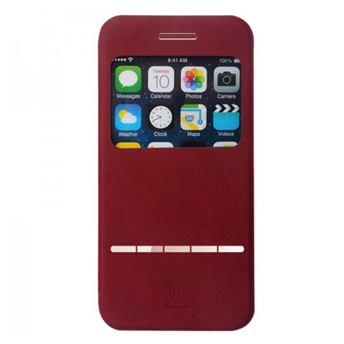 Baseus Terse Leather Case for iPhone 6 4.7 Inch - Red