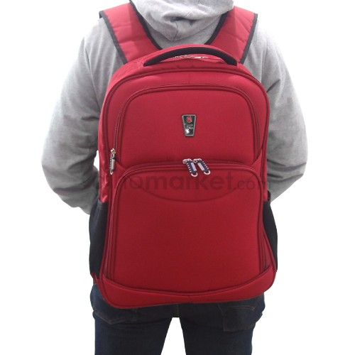 Navy Club Tas Ransel 5768 (Laptop Case   Rain Cover) - Red