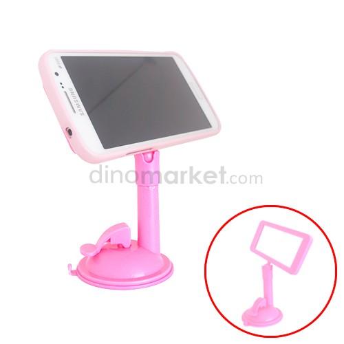Penyangga Gadget Tentakel + Kaca - Pink