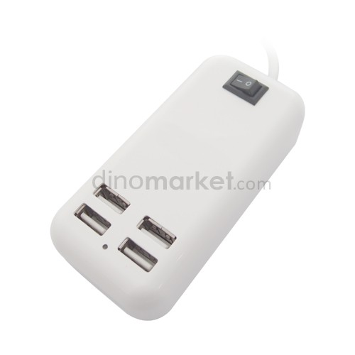 Desktop Charger 15W USB 4 Port Unique White