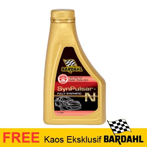 Bardahl Engine Oil Synpulsar N 5W/30 Sn/CF for Gasoline - 1Liter | FREE Kaos*