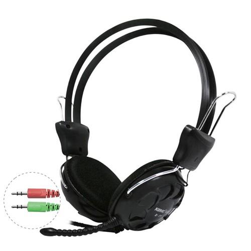KOMC Headphone with Mic  K77 - Black