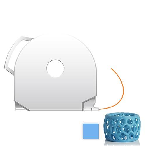 CubePro Cartridge PLA - Glowing Blue