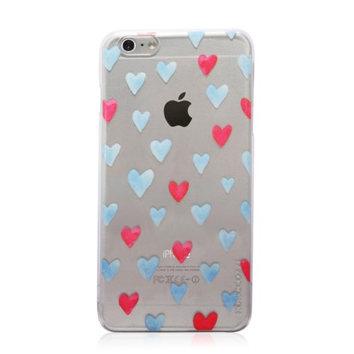 Monocozzi Hard Case Pattern Lab Shell Transparent for iPhone 6 Plus - Luxuriant Hearts