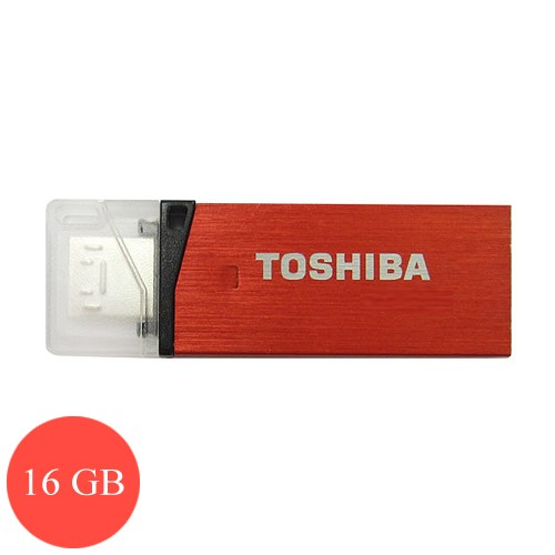 Toshiba Flash Drive Duo 16 GB (Micro   USB 3.0) - Red