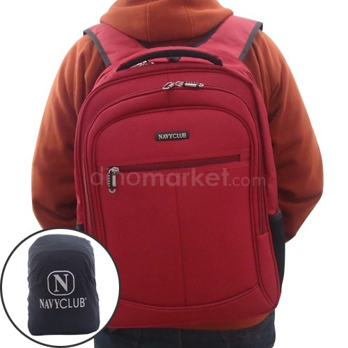 Navy Club Tas Ransel 5774 (Laptop Case + Rain Cover) - Red