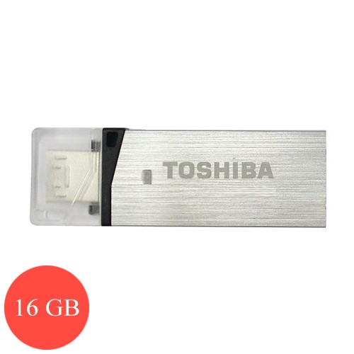 Toshiba Flash Drive Duo 16 GB (Micro   USB 3.0) - Silver