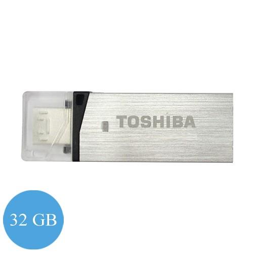Toshiba Flash Drive Duo 32 GB (Micro + USB 3.0) - Silver