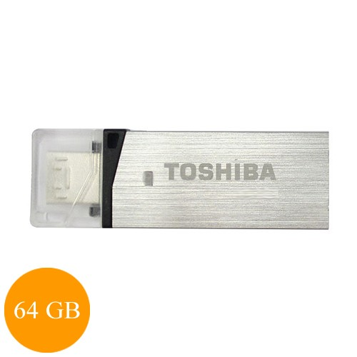 Toshiba Flash Drive Duo 64 GB (Micro + USB 3.0) - Silver