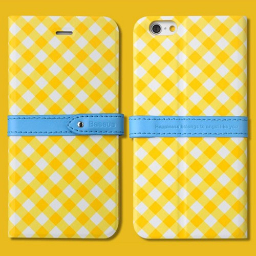 Baseus Case Colour Match Leather for iPhone 6 - Yellow
