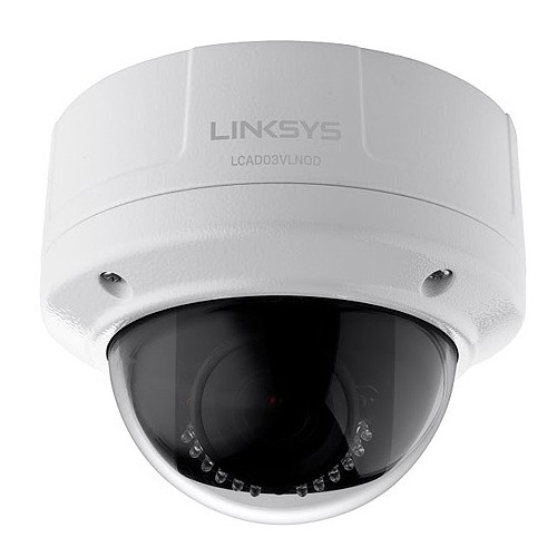 Linksys LCAD03VLNOD Outdoor Night Vision Dome Camera - White