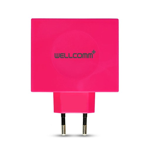 Wellcomm Desktop USB 4 Port 4.2A - Pink