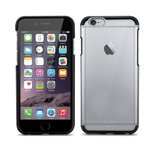 iLuv Vyneer Dual Material for iPhone 6 - Black