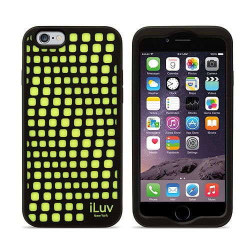 iLuv Aurora Wave Glow in The Dark for iPhone 6 - Black