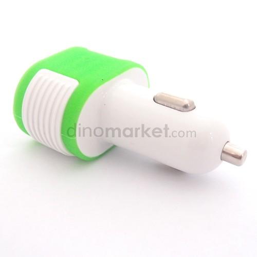 Car Charger 3 USB / ES - 07 - Green