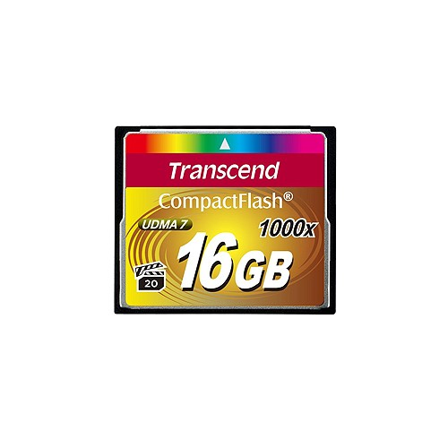 Transcend Ultra Extrame Compact Flash Card 1000X - 16GB