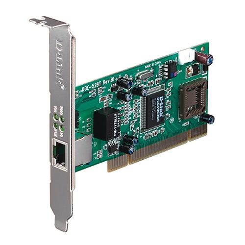 D-Link 1 Port UTP 10/100/1000Mbps Auto-Sensing 32-bit PCI-Bus (Bus Master) PnP, VLAN DGE-528T