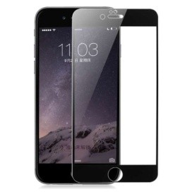 Baseus Ultrathin Tempered Full Cover Glass 0.2 mm silk printed For Iphone 6 - Black