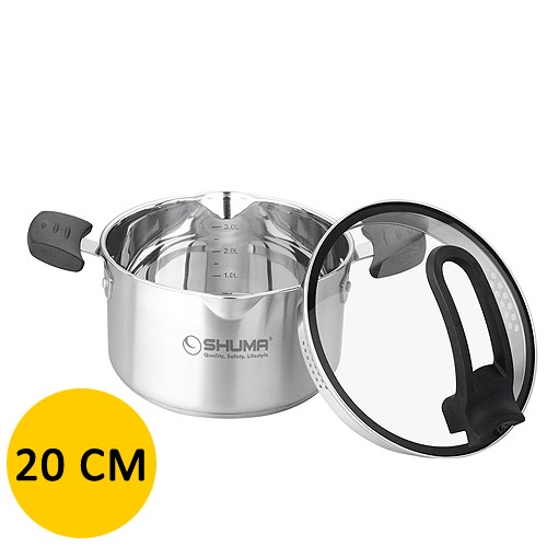 Shuma Stainless Steel Dutch Oven Elena - 20 cm - 3.0 L - Silver