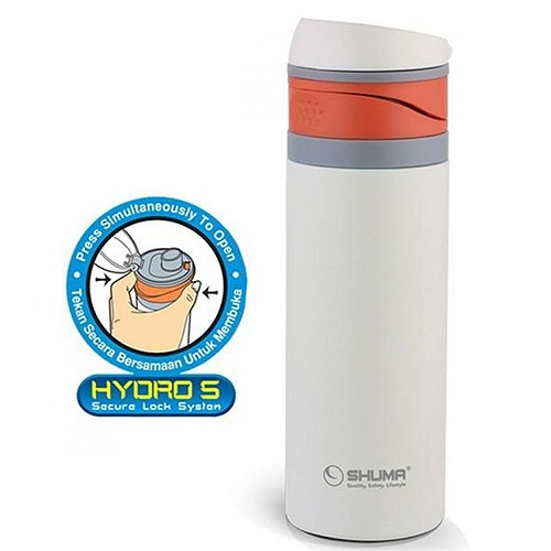 Shuma Vacuum Sport Bottle Hydro S - 400 ml - White