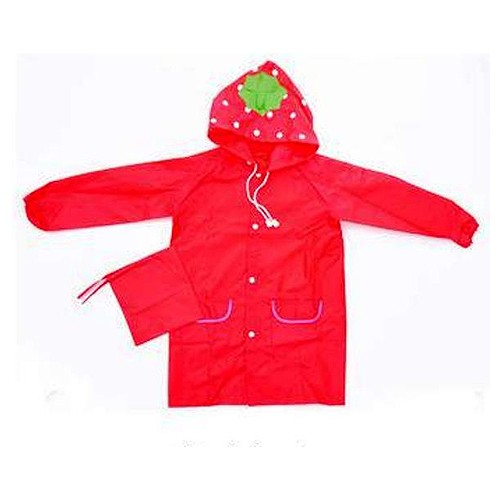 Raincoat Anak - Motif Strawberry