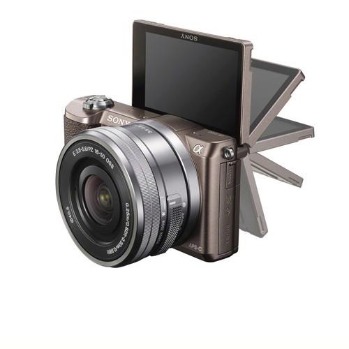 Sony Alpha a5100 Mirrorless Digital Camera - Brown