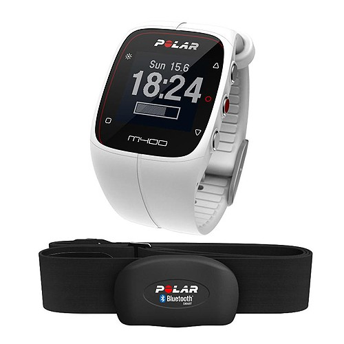 Polar GPS Sports Watch & Activity Tracker M400 HR - White