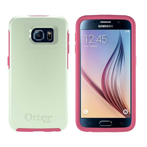 Otterbox Symmetry Series for Samsung Galaxy S6 - Sage Green Hibiscus Pink